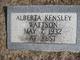 Profile photo:  Alberta <I>Kensley</I> Wattson