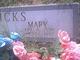 Mary <I>Reed</I> Hicks