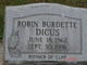 Profile photo: Mrs Robin <I>Dicus</I> Burdette