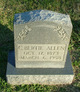 "Profile photo:  Clarence Burton ""Bertie"" Allen"