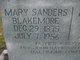 Mary <I>Sanders</I> Blakemore