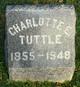 Profile photo:  Charlotte E. <I>Brindle</I> Tuttle