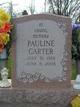 Pauline <I>Marlow</I> Carter