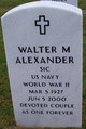 Profile photo:  Walter M Alexander