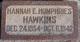 Profile photo:  Hannah Elizabeth <I>Humphries</I> Hawkins