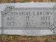 Catharine E Brown