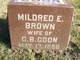 Profile photo:  Mildred E. <I>Brown</I> Coon