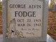 George Alvin Fodge