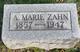 Profile photo:  A. Marie Zahn