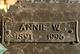 Profile photo:  Annie Wilma <I>Ansley</I> Aynesworth