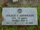Pvt Jerald E. Anderson