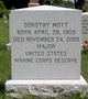 Maj Dorothy Mott