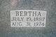 Bertha <I>Raddatz</I> Ortlepp