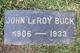 Profile photo:  John LeRoy Buck
