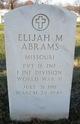 Pvt Elijah Miles Abrams