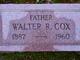 Profile photo:  Walter R. Cox