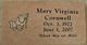 Mary Virginia <I>Caccamo</I> Cornwell