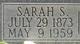 Sarah Soville <I>Albright</I> Freeling