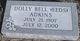 Profile photo:  Dolly Bell <I>Eeds</I> Adkins