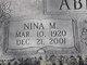 Profile photo:  Nina M Abbott