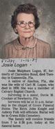 Josie <I>Malphurs</I> Logan