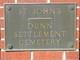Dunn Settlement Cemetery