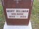 Mary <I>Billman</I> Holshoe