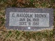 Charles Malcolm Brown
