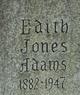 Profile photo:  Edith May <I>Jones</I> Adams