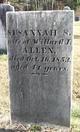 Susannah S[haw] <I>Williams</I> Allen