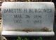 Babette H. <I>Waldstein</I> Burgower