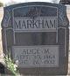 Profile photo:  Alice M <I>Laird</I> Markham