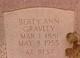 "Roberta Ann ""Berty"" <I>Howlett</I> Gravley"
