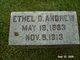Profile photo:  Ethel D. Andrew