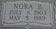 Nora B. <I>Harris</I> Freeling
