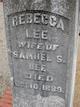 Rebecca <I>Ganus</I> Lee