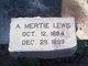 Profile photo:  A. Mertie Lewis