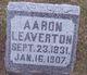 Profile photo:  Aaron Leaverton, II