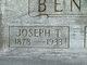 """Joseph Tipton """"Tip"""" Benge"""