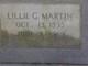 Lillie G Martin