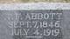 Profile photo: Pvt Theodore Hyson Freeling Abbott