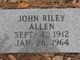 Profile photo:  John Riley Allen