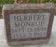 Profile photo:  Herbert William Monroe