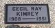 Profile photo:  Cecil Ray Kimrey