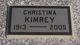 Profile photo:  Christina Elizabeth <I>Jameson</I> Kimrey