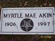 Profile photo:  Myrtle Mae Akin