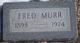 "Profile photo:  Alfred Washington ""Fred"" Murr"