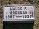 "Profile photo:  Florence M. ""Maude"" <I>Lurty</I> Brennan"