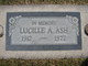 Lucille A <I>Garcia</I> Ash