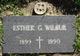 Profile photo:  Esther G. <I>Gilbertson</I> Wilbur